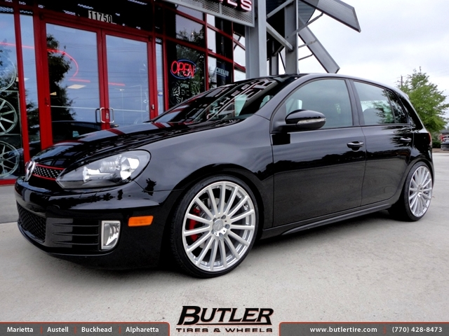 VW GTI with 19in Mandrus Rotec Wheels