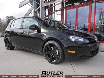 VW Golf with 18in Mandrus Rotec Wheels