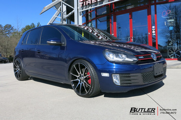 VW Golf with 19in Savini BM12 Wheels