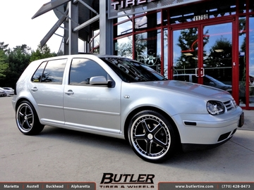 VW Golf with 19in TSW Carthage Wheels