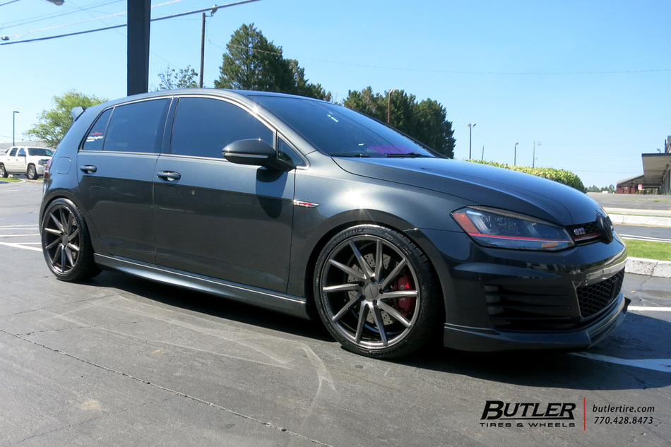 VW Golf with 19in Vossen CVT Wheels exclusively from Butler Tires and Wheels in Atlanta, GA ...