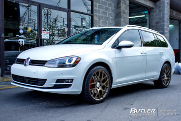 VW Golf Sportwagen with 18in TSW Nurburgring Wheels