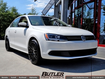 VW Jetta with 18in TSW Max Wheels