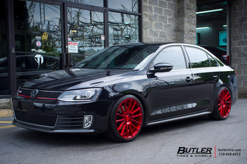VW Jetta with 19in Savini BM9 Wheels