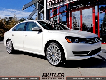 VW Passat with 20in Mandrus Rotec Wheels