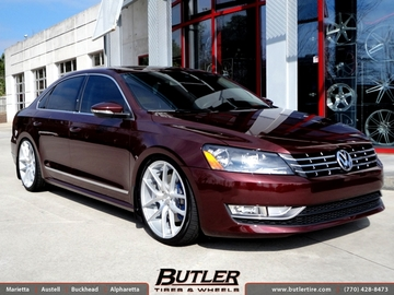 VW Passat with 20in Niche Targa Wheels