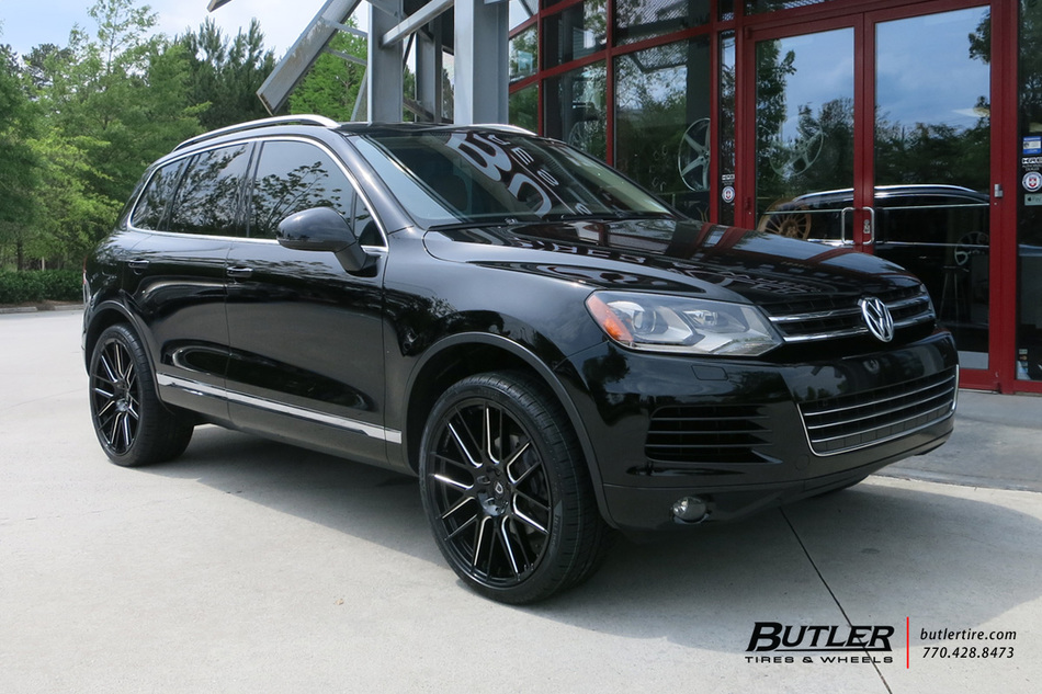 VW Touareg with 22in Lexani CSS8 Wheels exclusively from Butler Tires and Wheels in Atlanta, GA ...