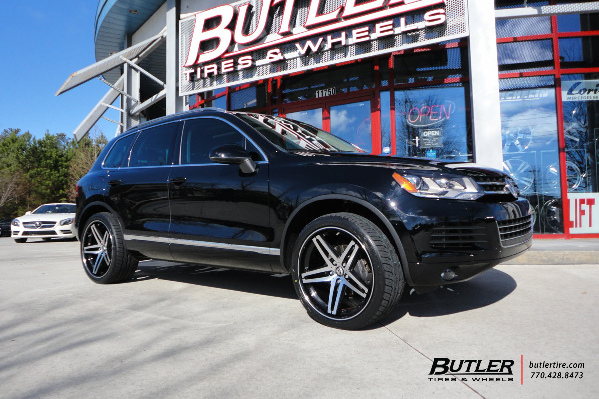 Vw Touareg With 22in Lexani R Five Wheels Exclusively From Butler Tires And Wheels In Atlanta Ga Image Number 8498