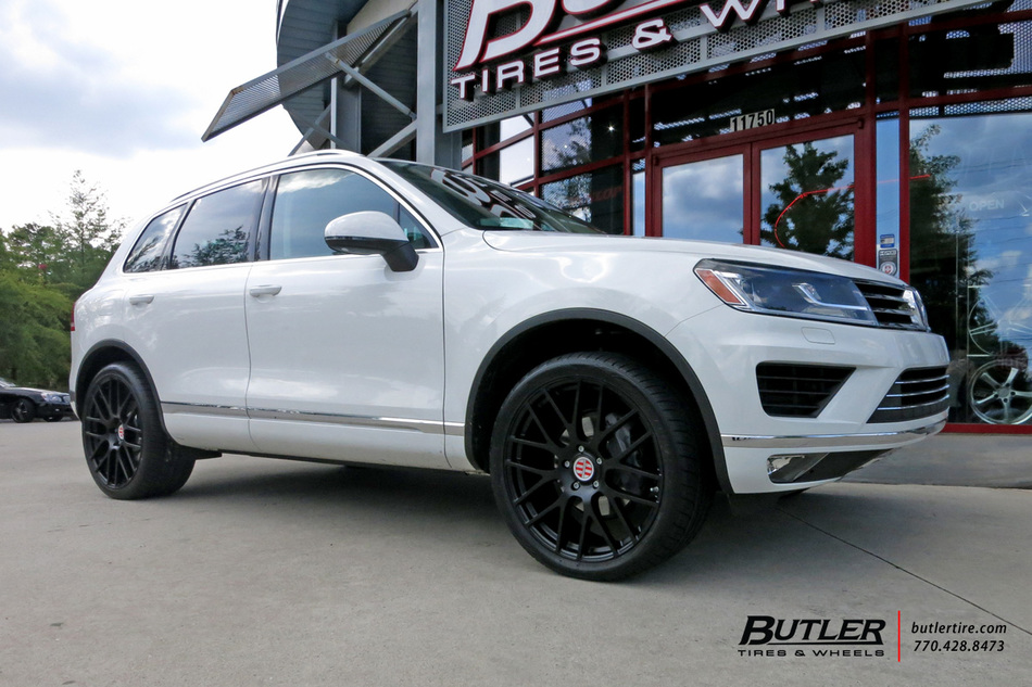 VW Touareg with 22in Victor Innsbruck Wheels exclusively from Butler Tires and Wheels in Atlanta ...