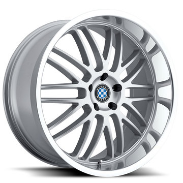 Beyern Mesh Silver with Mirror Cut Lip BMW Wheels - Standard