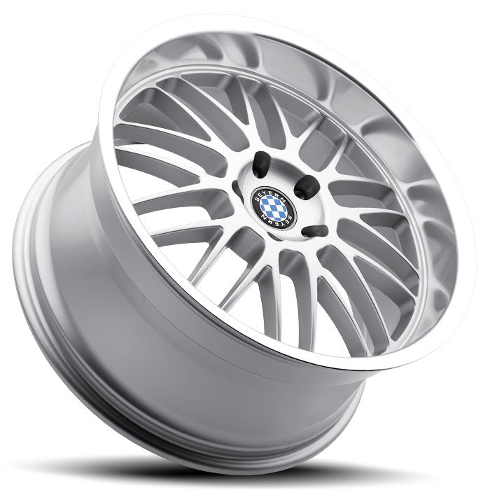 Beyern Mesh Silver with Mirror Cut Lip BMW Wheels - Lay