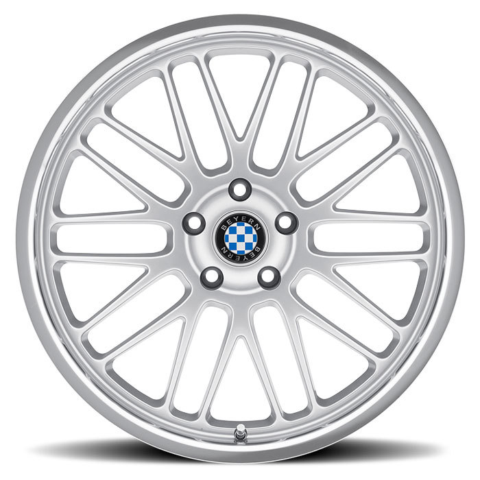 Beyern Mesh Silver with Mirror Cut Lip BMW Wheels - Face