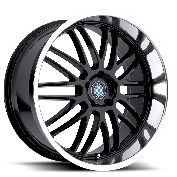 Beyern Mesh Gloss Black with Mirror Cut Lip BMW Wheels - Standard