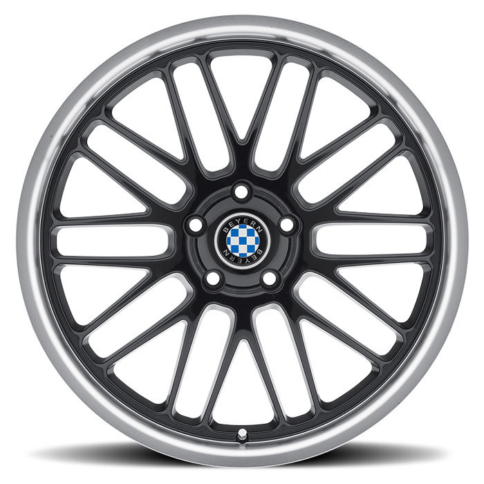 Beyern Mesh Gloss Black with Mirror Cut Lip BMW Wheels - Face