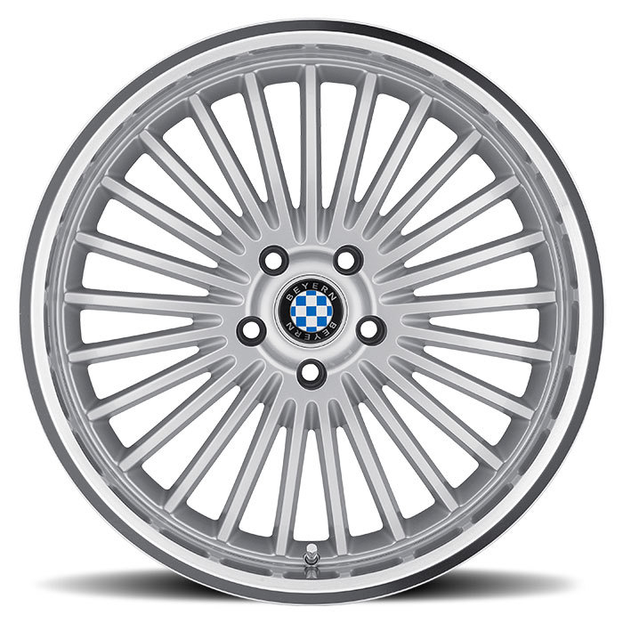 Beyern Multi Spoke Silver with Mirror Cut Lip BMW Wheels - Face