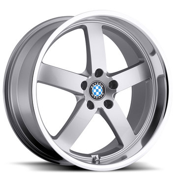 Beyern Rapp Silver with Mirror Cut Lip BMW Wheels - Standard