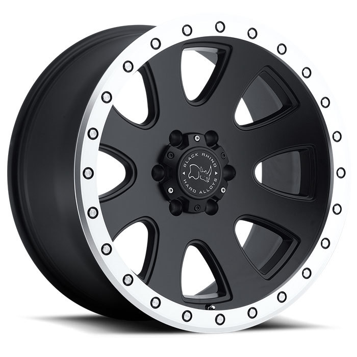 Black Rhino 500 Off Road Wheels - Matte Black with Machined Lip Finish