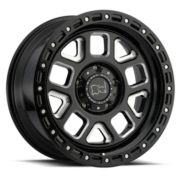 Black Rhino Alpine Gloss Black with Milled Spokes Finish Off Road Wheels