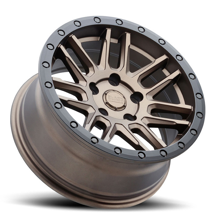Black Rhino Arches Wheels Bronze with Black Lip Edge and Black Bolts Finish