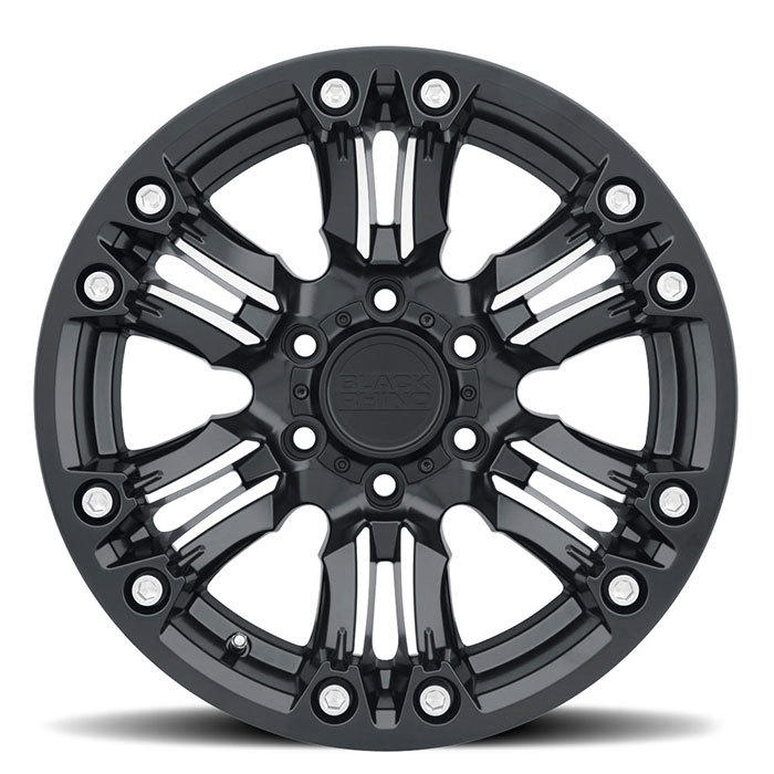 Black Rhino Asagai Wheels Matte Black with Machined Spoke and Stainless Bolts Finish