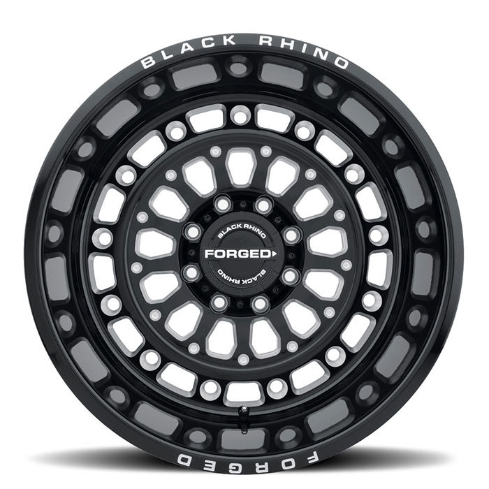 Black Rhino Centurion Forged Monoblock Wheels Gloss Black with Milled Spokes Finish