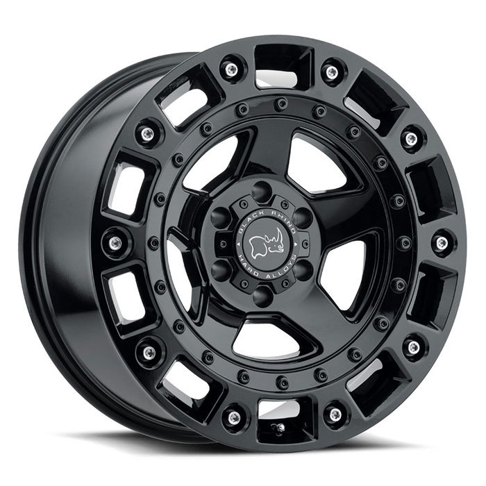 Black Rhino Cinco Gloss Black with Stainless Bolts Finish Off Road Wheels