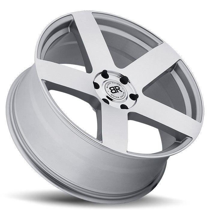 Black Rhino Everest Silver with Mirror Cut Face Truck Wheels - Lay