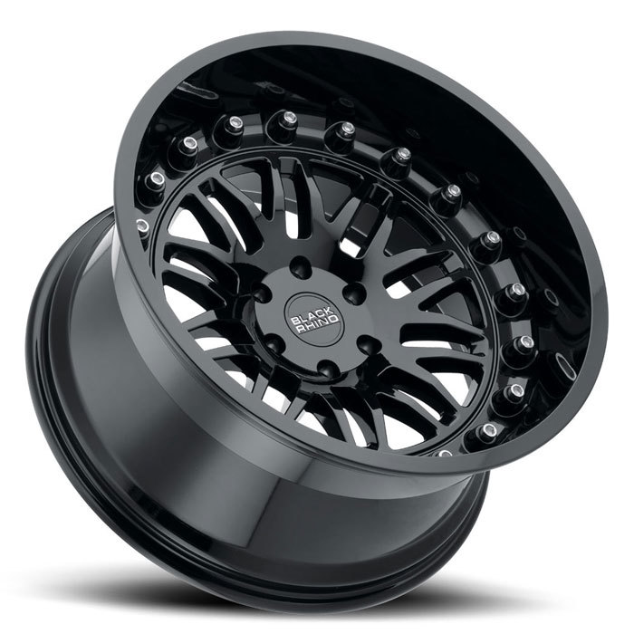 Black Rhino Fury Gloss Black Finish Off Road Wheels