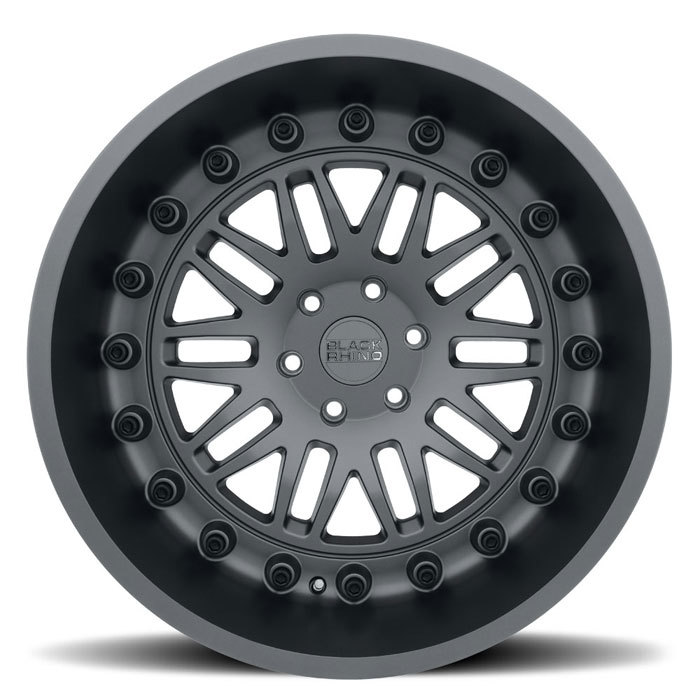 Black Rhino Fury Matte Gunmetal Finish Off Road Wheels