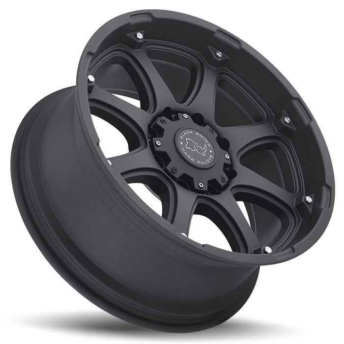 Black Rhino Glamis Matte Black Off Road Wheels - Lay