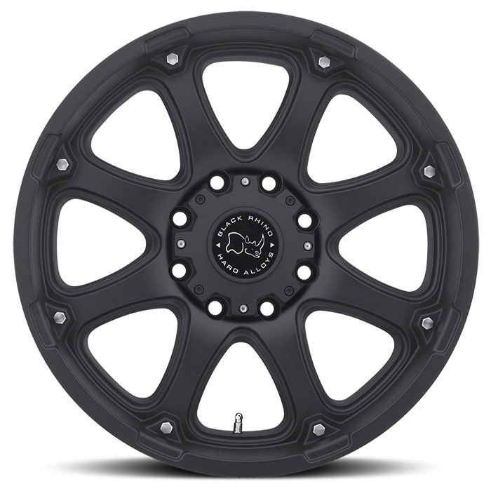 Black Rhino Glamis Matte Black Off Road Wheels - Face