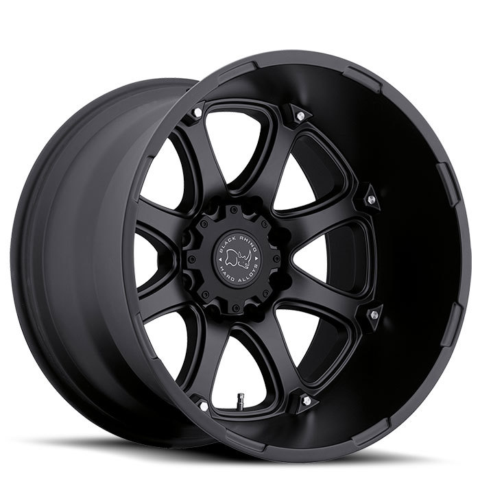 Black Rhino Glamis Matte Black - 12 and 14 inch width Off Road Wheels - Standard