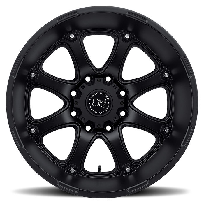 Black Rhino Glamis Matte Black - 12 and 14 inch width Off Road Wheels - Face