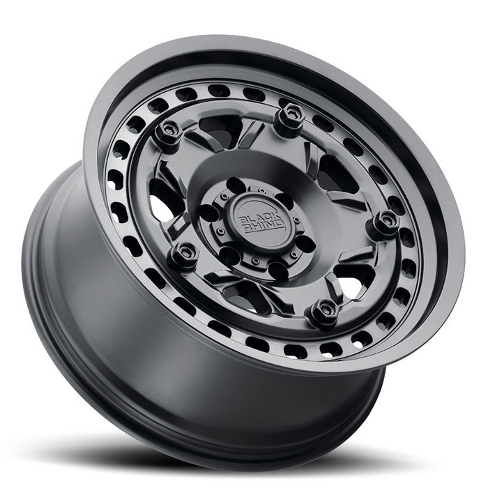 Black Rhino Grange Wheels Matte Black with Machined Tint Ring Finish