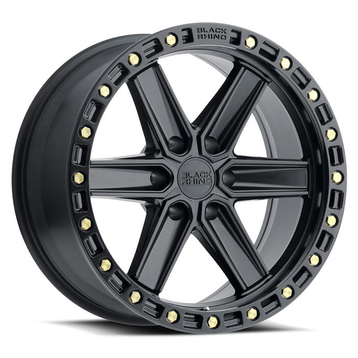Black Rhino Henderson Wheels Matte Black with Brass Bolts Finish