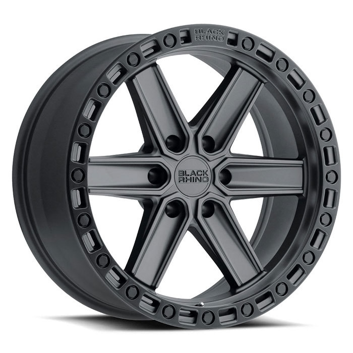 Black Rhino Henderson Wheels Gun Black with Black Lip Edge and Black Bolts Finish