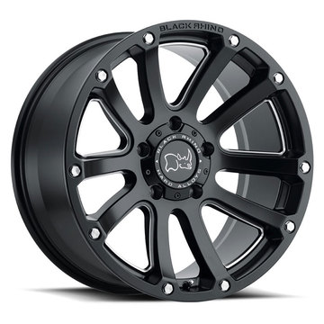 Black Rhino Highland Matte Black with Milled Spokes Finish Off Road Wheels