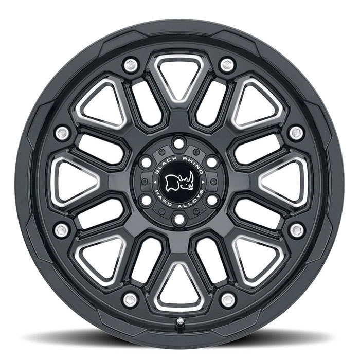Black Rhino Hollister Wheels Gloss Black with Milled Spokes Finish