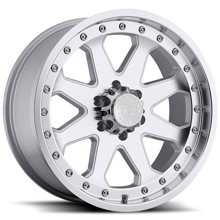 Black Rhino Imperial Silver with Machine Face and Lip Off Road Wheels - Standard
