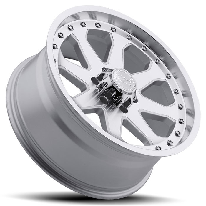 Black Rhino Imperial Silver with Machine Face and Lip Off Road Wheels - Lay