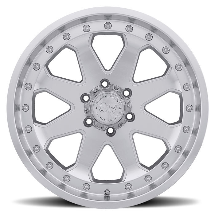 Black Rhino Imperial Silver with Machine Face and Lip Off Road Wheels - Face