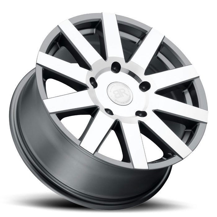 Black Rhino Journey Gunmetal with Machined Face Finish Truck Wheels
