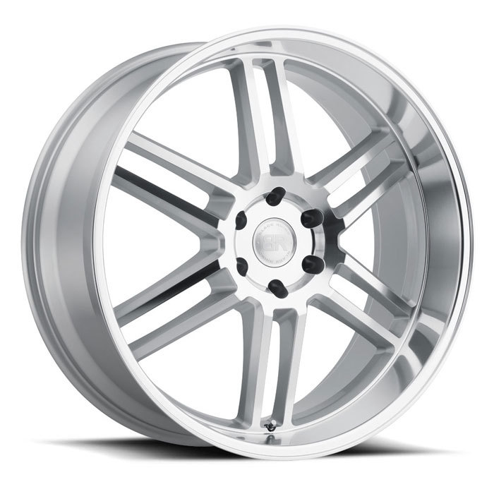Black Rhino Katavi Silver with Mirror Cut Face and Lip Finish Truck Wheels