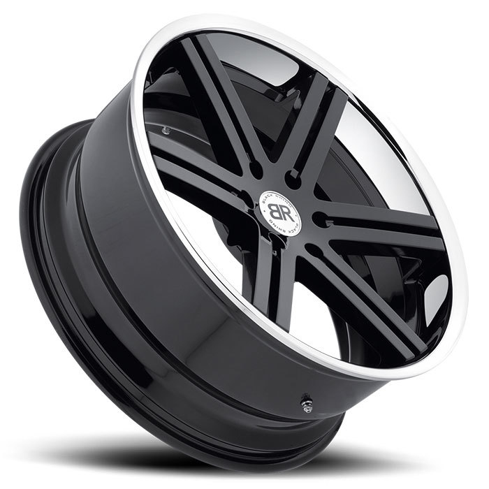 Black Rhino Letaba Gloss Black with Chrome and Stainless Lip Truck Wheels - Lay