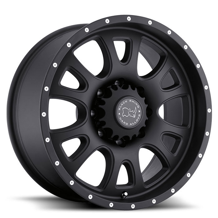 Black Rhino Lucerne Matte Black Off Road Wheels - Standard