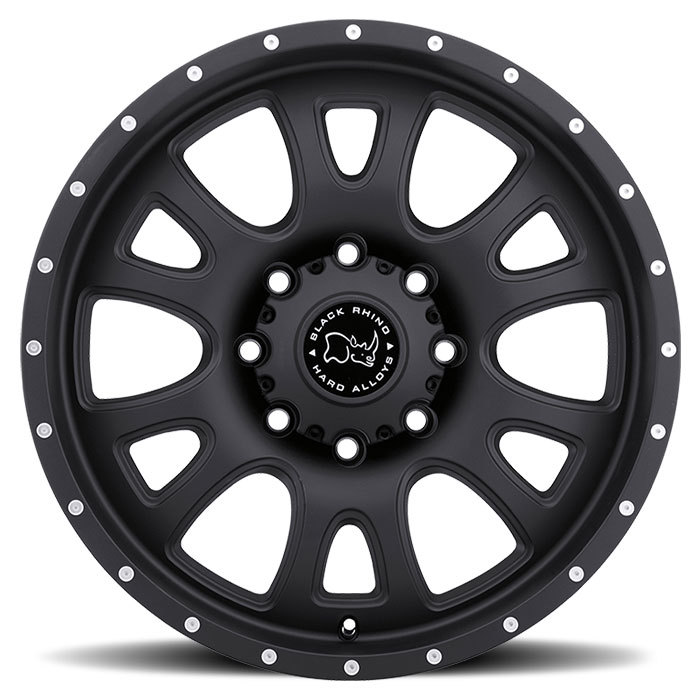 Black Rhino Lucerne Matte Black Off Road Wheels - Face