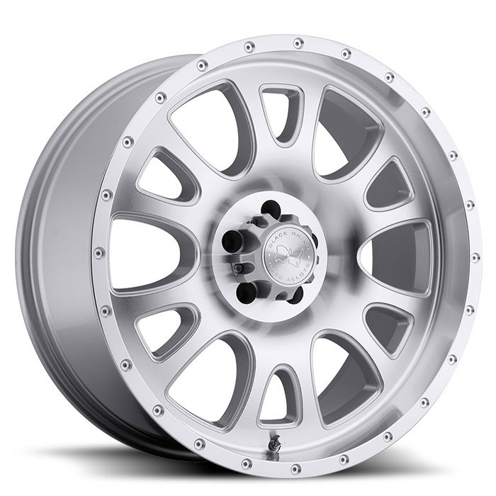 Black Rhino Lucerne Silver with Machine Cut Face and Lip Off Road Wheels - Standard