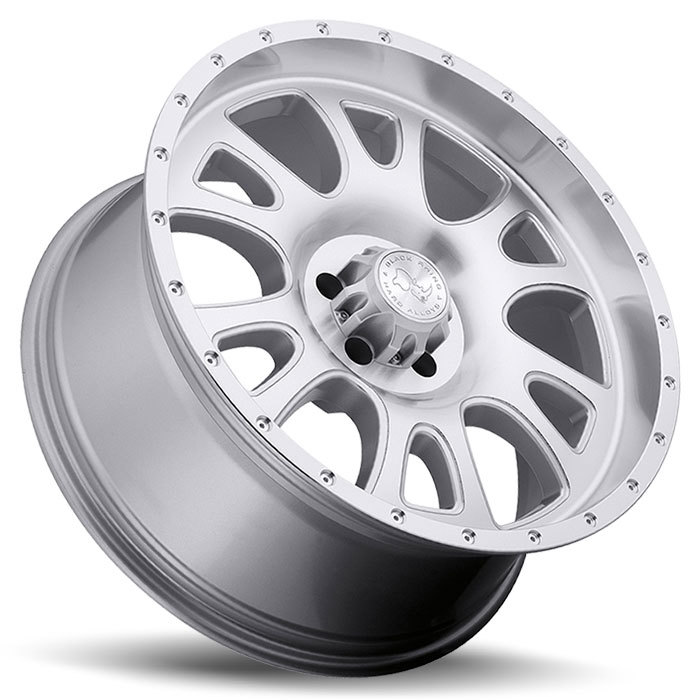 Black Rhino Lucerne Silver with Machine Cut Face and Lip Off Road Wheels - Lay