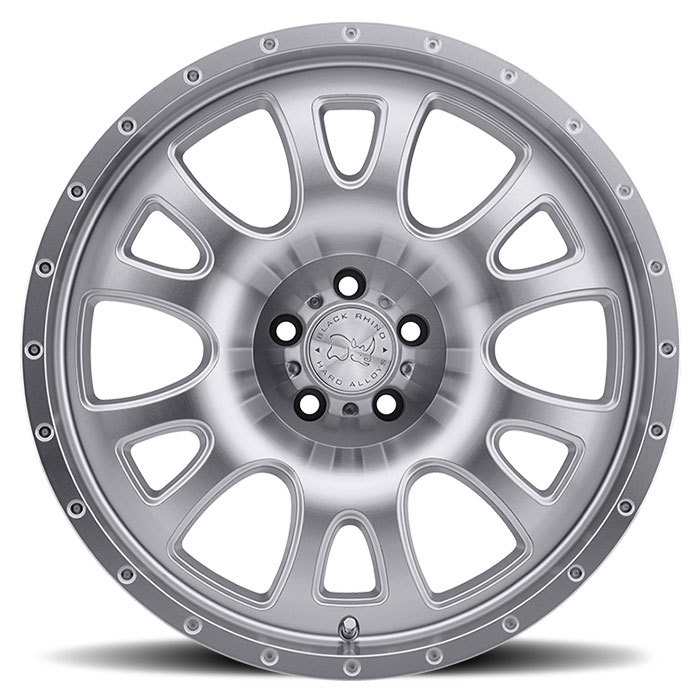 Black Rhino Lucerne Silver with Machine Cut Face and Lip Off Road Wheels - Face