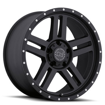 Black Rhino Mojave Matte Black with Milled Holes Off Road Wheels - Standard